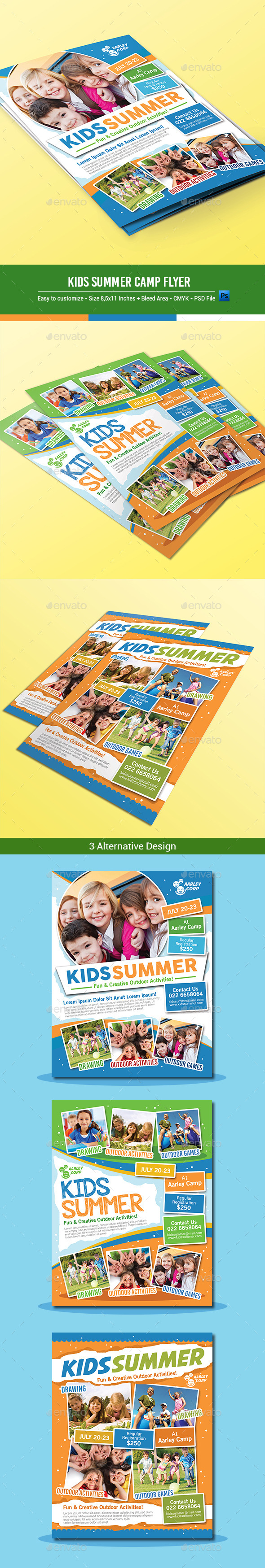GraphicRiver Kids Summer Camp Flyers 10131796