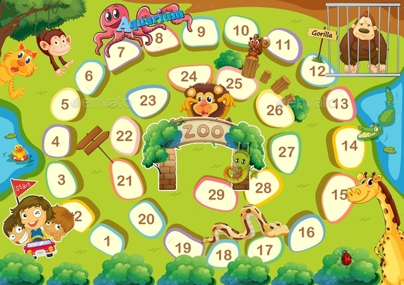 GraphicRiver Zoo Theme Boardgame 10131928