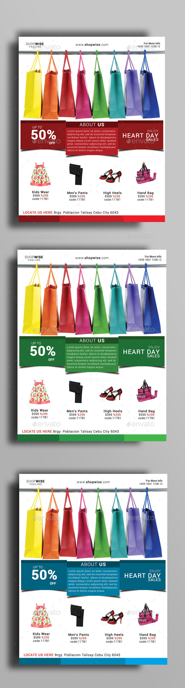 GraphicRiver Heart Day Sale Flyer 10132027