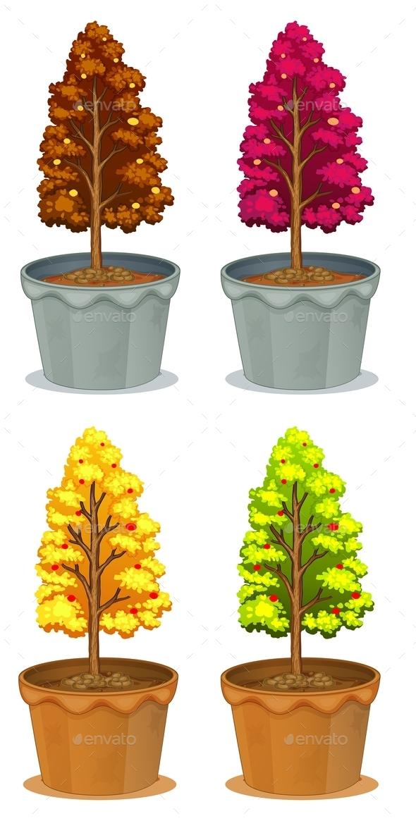 GraphicRiver Four Pots of Plants 10132028