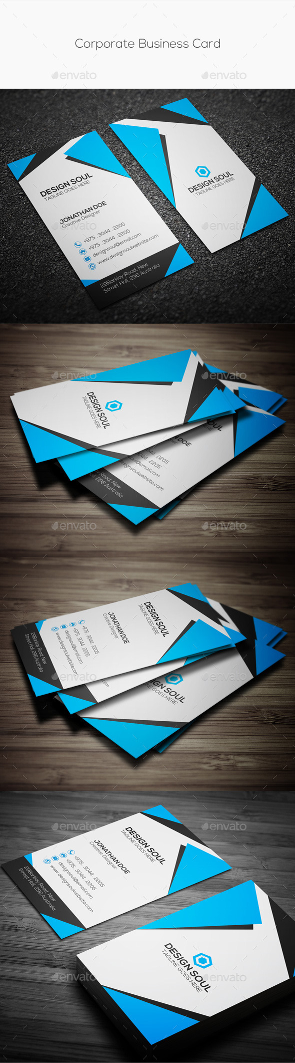 GraphicRiver Corporate Business Card 10132049