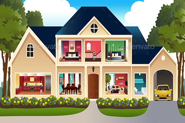 GraphicRiver Family at Home 10132077