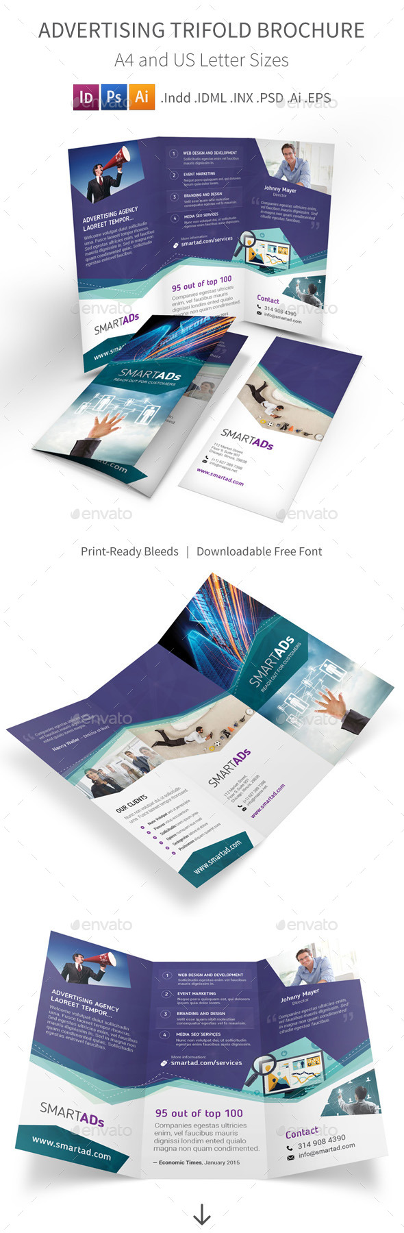 GraphicRiver Advertising Trifold Brochure 10132094