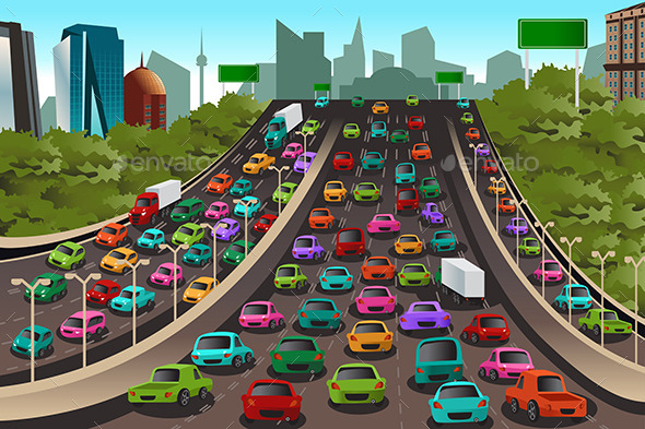 GraphicRiver Traffic on a Highway 10132096