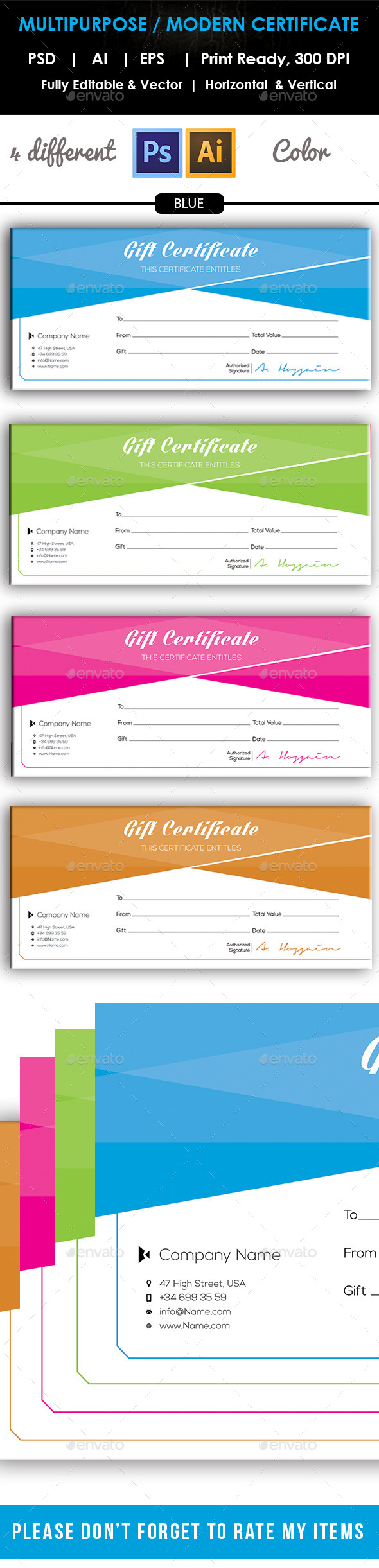 GraphicRiver Simple Gift Certificate GD016 10132097