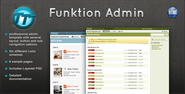 Funktion Admin Template