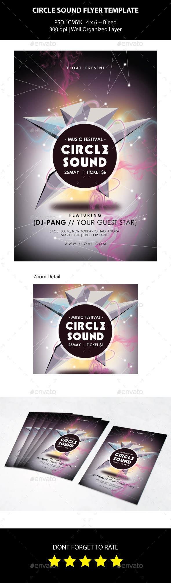 GraphicRiver Circle Sound Flyer Template 10132268
