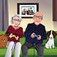 Elderly Couple Playing Games - GraphicRiver Item for Sale