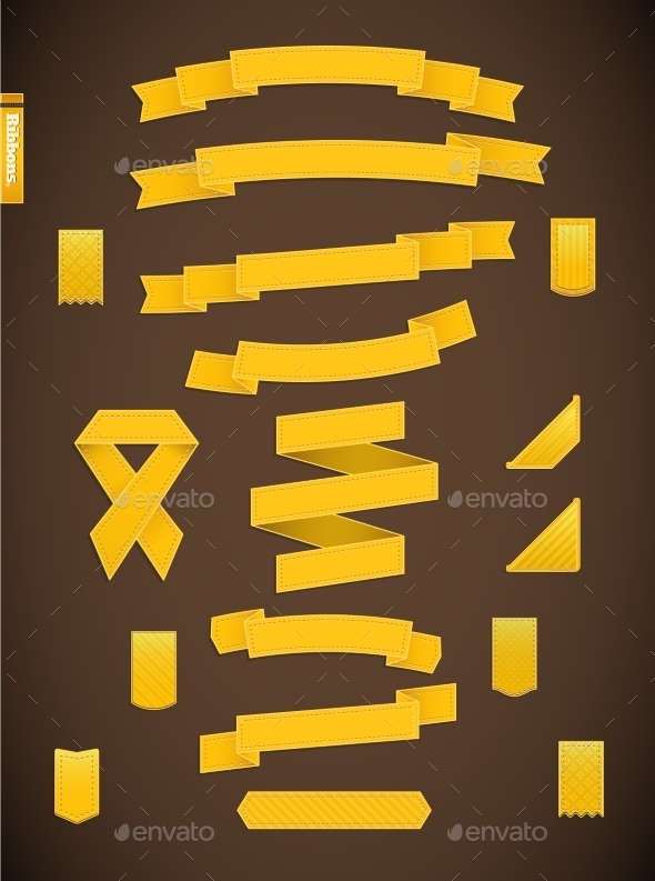 GraphicRiver Golden Ribbons 10132873