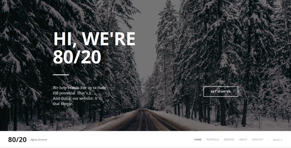 80/20 -Responsive Retina Parallax Drupal One-Page