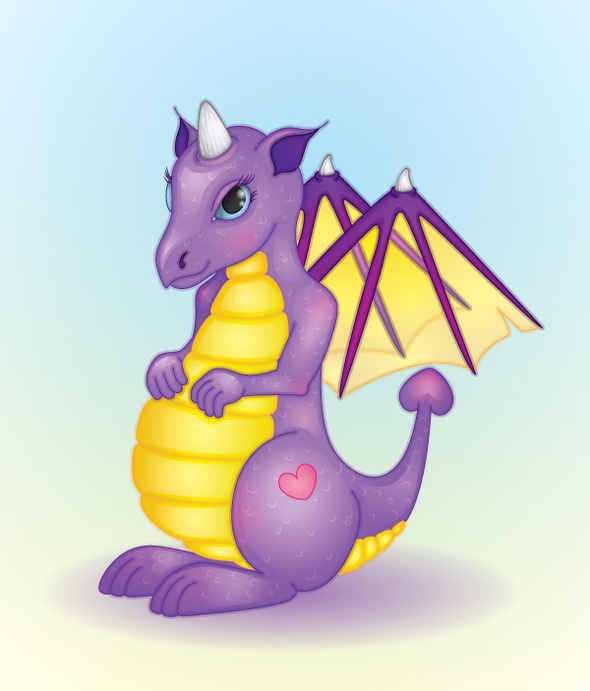 TutsPlus Create a Friendly Dragon with Gradients 128076