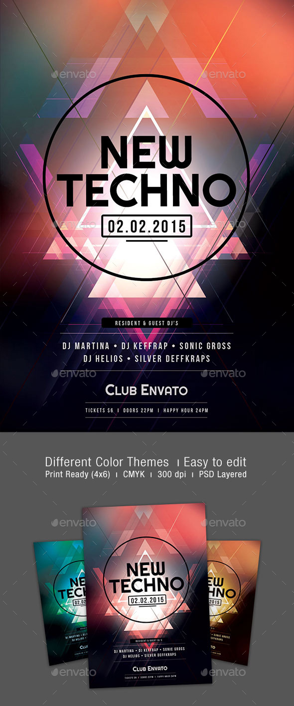 GraphicRiver New Techno Flyer 10133404