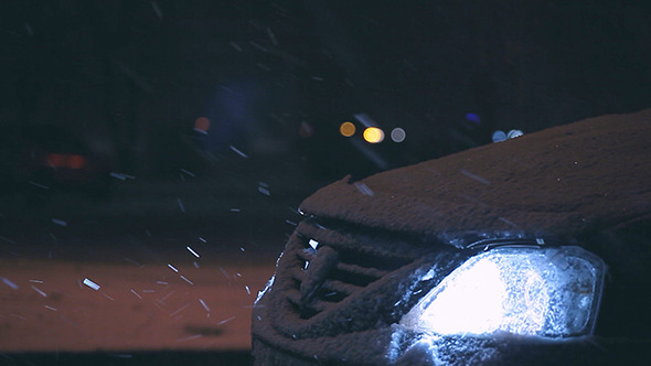 VideoHive Snow And Car At Night 2 Pack 10133411