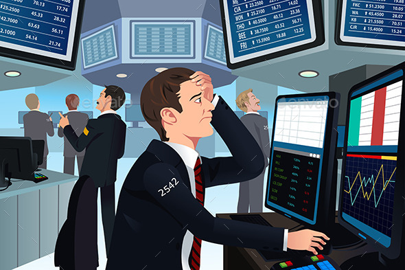 GraphicRiver Stock Trader in Stress 10133417