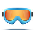 Classic vintage old school blue snowboard ski goggles with colorful glass. - PhotoDune Item for Sale