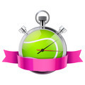 Stopwatch with tennis ball inside. Sport and training - PhotoDune Item for Sale