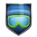 Bright shield in the winter cap and ski goggles inside. - PhotoDune Item for Sale