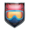 Bright shield in the ski helmet and goggles inside. - PhotoDune Item for Sale