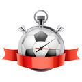 Stopwatch with football ball inside. Sport and training - PhotoDune Item for Sale