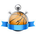 Stopwatch with basketball ball inside. Sport and training - PhotoDune Item for Sale