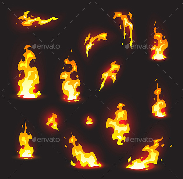 GraphicRiver Cartoon Fire Effect with Glow 10133469