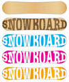 Snowboard sample flat symbols for design. - PhotoDune Item for Sale