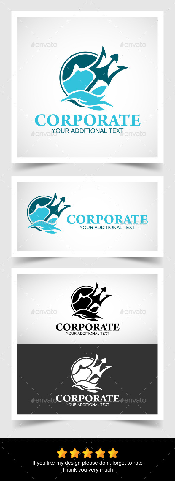 GraphicRiver Dolphin and Trident in a Logo 10133474