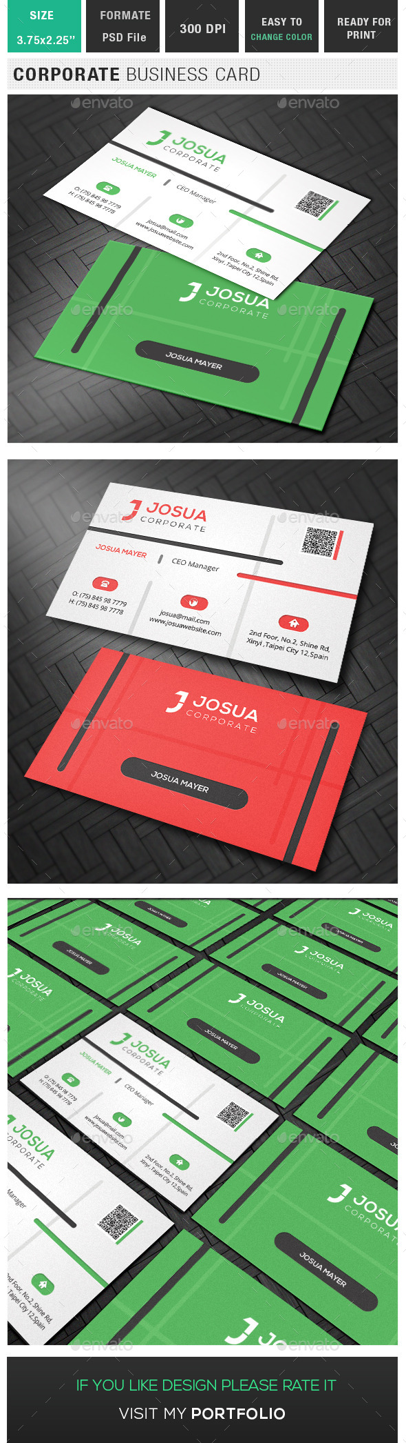GraphicRiver Corporate Business Card 10133479