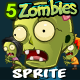 Zombies Sprite Sheets - GraphicRiver Item for Sale