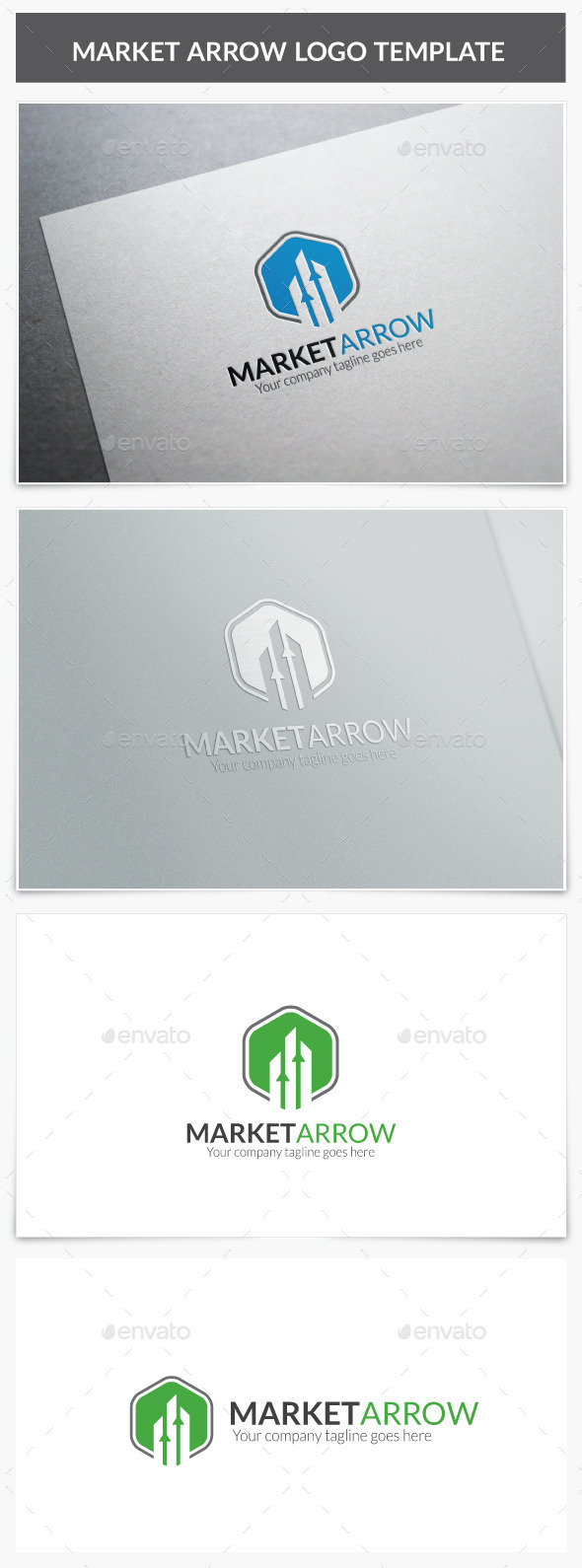 GraphicRiver Market Arrow Logo 10133572
