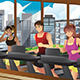 People Running on Treadmills - GraphicRiver Item for Sale