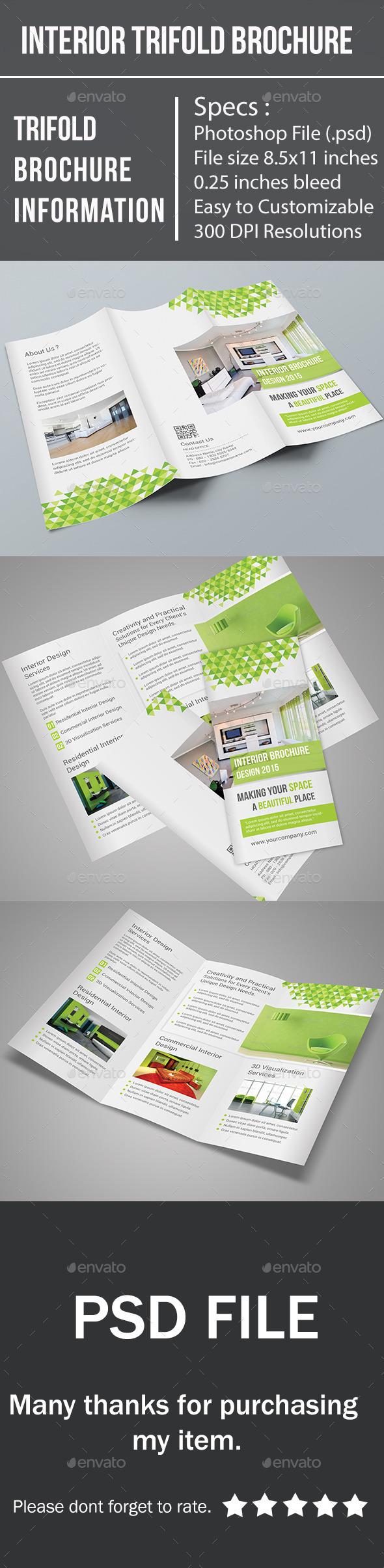 GraphicRiver Interior Trifold Brochure 10133576