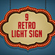 Retro Light Sign - GraphicRiver Item for Sale