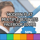 Modern Flat Multiple - Facebook Cover Template - GraphicRiver Item for Sale
