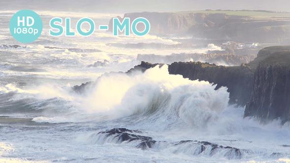 VideoHive Huge Waves Pummel Coast 10133783