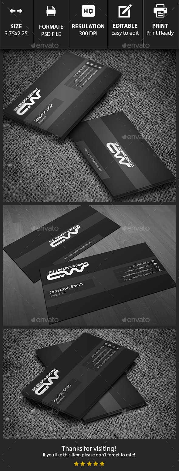 GraphicRiver Simple Business Card 10133785