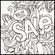 3 Sale Doodles Background - GraphicRiver Item for Sale