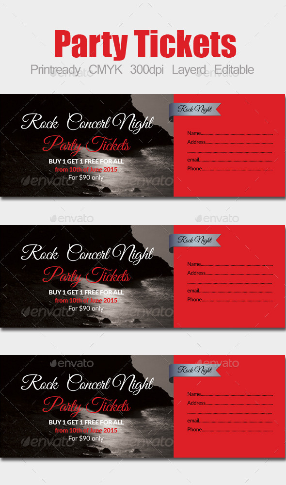 GraphicRiver Special Party Event Ticket 10134029