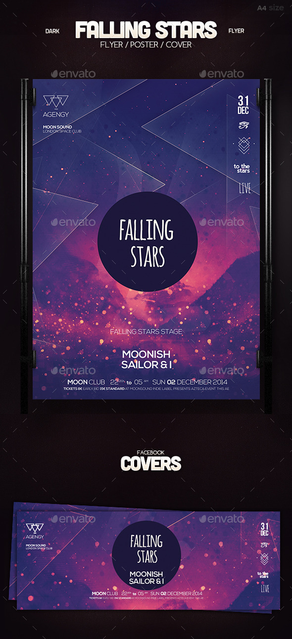 GraphicRiver Falling Stars Poster 10134096