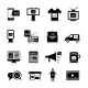 Advertising Icons Black - GraphicRiver Item for Sale