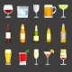 Alcohol Drinks Icons Set - GraphicRiver Item for Sale