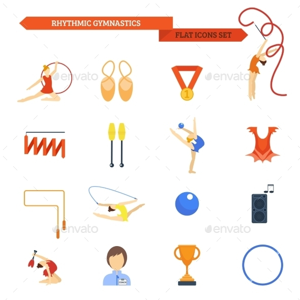 GraphicRiver Gymnastics Icons 10134128