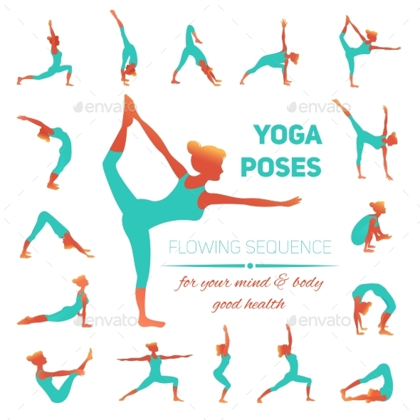 GraphicRiver Yoga Poses Icons 10134133
