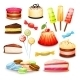 Sweet Food Set - GraphicRiver Item for Sale