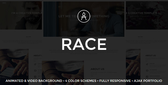 Race - Creative One Page Template