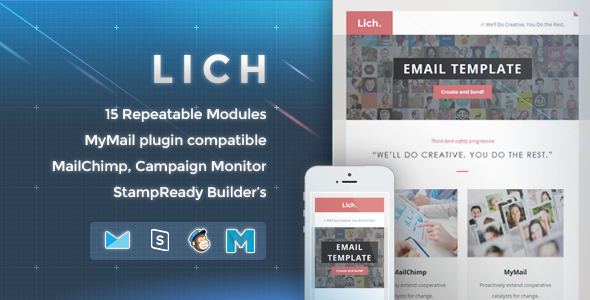 ThemeForest Lich Responsive Email Template 10134433