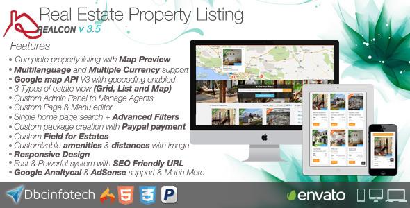 CodeCanyon – Realcon Real Estate Property Listing v3.4.0