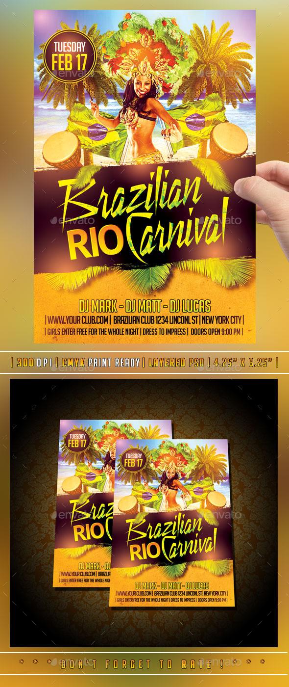 GraphicRiver Mardi Gras Carnival Flyer 10135170