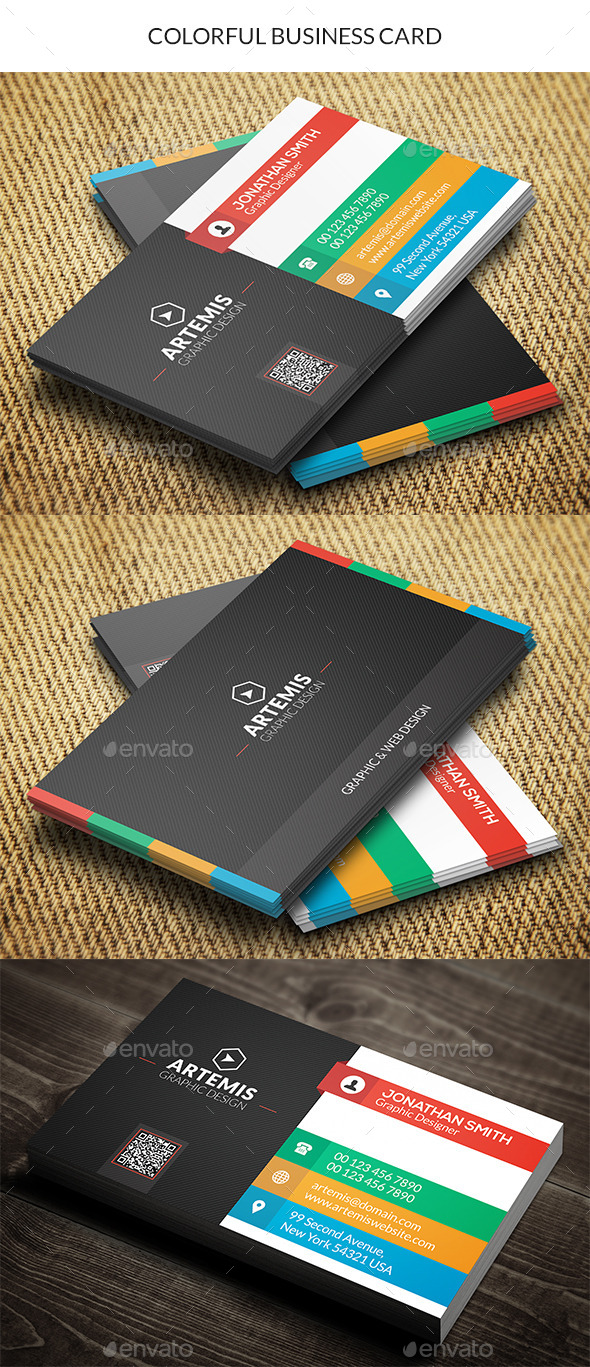 GraphicRiver Colorful Business Card 10135176