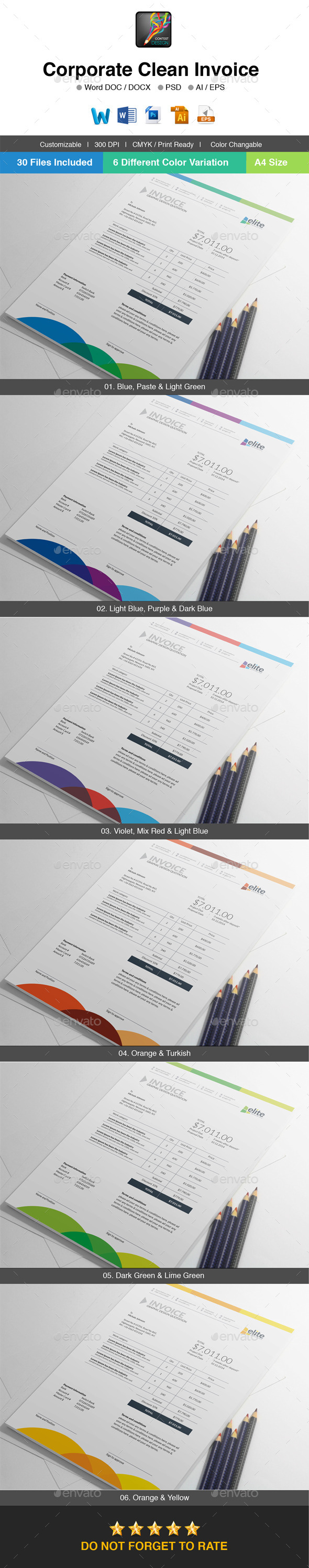 GraphicRiver Elite Corporate Clean Invoice Template 10135188